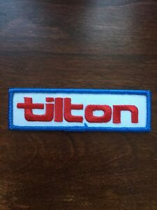 Vtg-Tilton-Racing-Parts-Embroidered-Sew-On-Patch-Badge-4-5-NASCAR-Brakes-Clutch