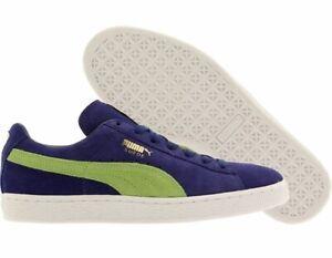 puma suede blue green