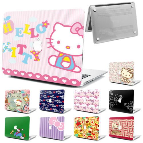 """Love Hello Kitty Hard Rubberized Case Cover Fr Apple Macbook Pro Air 11/"""" 12/"""" 13/"""""""