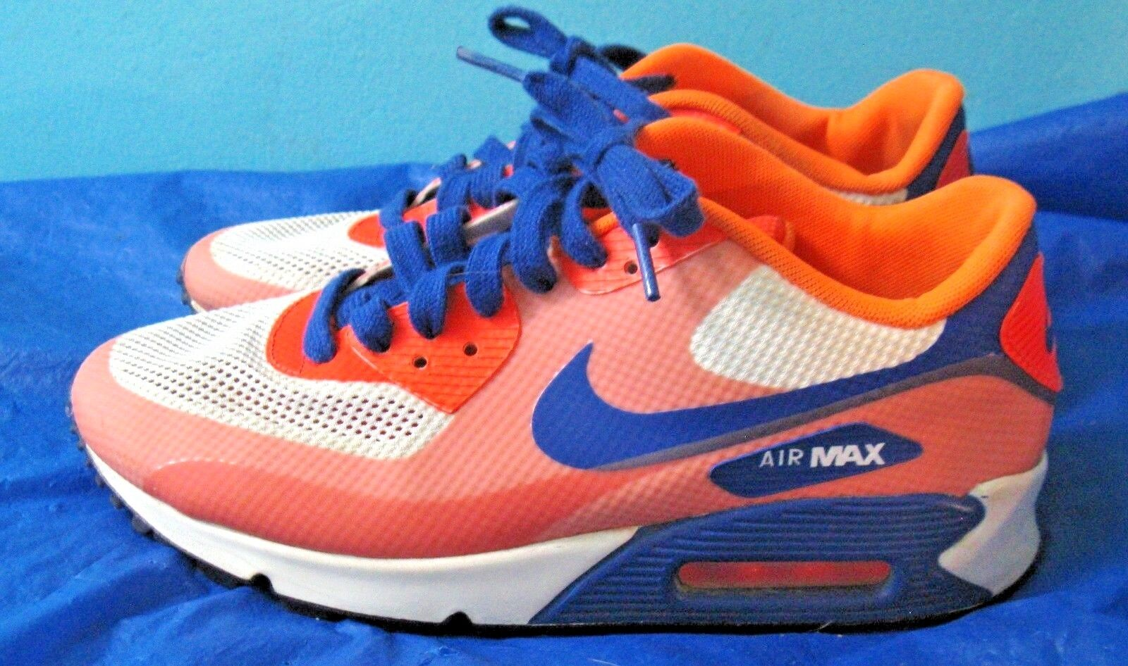 Nike Air Max 90 HYPERFUSE PREMIUM 454460-100  Hyper Blue Citrus Crms (Sz 9.5)