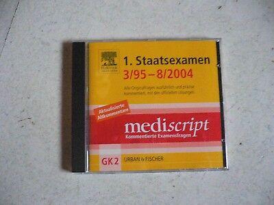1. Staatexamen 3/95 - 8/2004 Gk2 - Mediscript Kommentierte Examensfragen Artz Pc