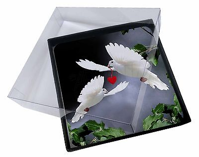 Slim 4x Two White Doves+ Red Heart Picture Table Coasters Set In Gift Box, Ab-d6c Kwaliteit En Kwantiteit Verzekerd