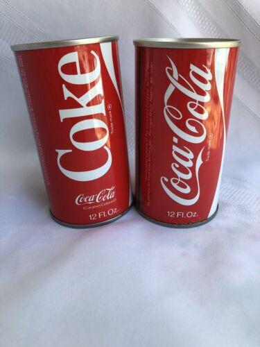 2 Vintage Coca Cola Coke Soda Cans Flat Top 1971 Lot Of 2