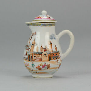Rare-Chinese-18C-Famille-Rose-Peter-the-Great-Porcelain-Antique-Teapot-China