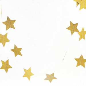 2M-Gold-Glitter-Hanging-Star-Bunting-Garland-Wedding-Birthday-Party-Home-Decor