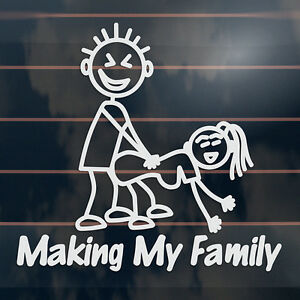 Making-My-Family-funny-rude-stick-figure-Car-Sticker-165mm
