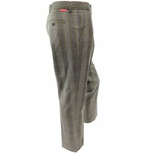 Dwyers-amp-Co-Funky-Checked-Designer-Flat-Front-Golf-Trousers-Kerry