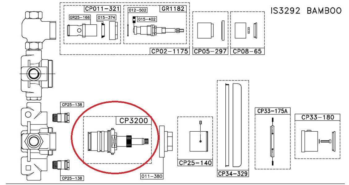 RemplaceHommes t cartouche Thermostatique Isomix modèle 8051825142699 Stella CP3200 | | | Emballage élégant Et Robuste  c91f3d