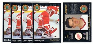 1X-CHRIS-OSGOOD-1993-94-Pinnacle-431-Rookie-RC-RED-WINGS-Lots-Available-NMMT