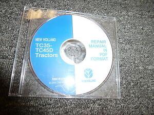 new holland tc35 tc35d tc40 tc40d tc45 tc45d tractor shop service rh ebay com new holland tc35d service manual New Holland Boomer Compact Tractors