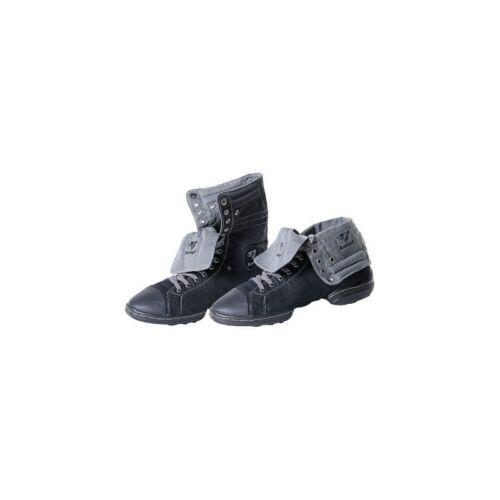 1561 Black and Grey split sole canvas Rumpf Dance Sneaker Two Star