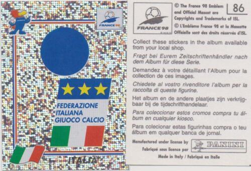 Panini  WM 1998 nummer 86 Beste zustand.. ...