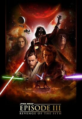 Star Wars Poster Revenge Of The Sith Episode Iii Reprint 13 X 19 Ebay