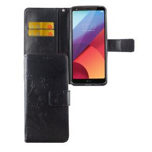 LG-G6-Huelle-Case-Handy-Cover-Schutz-Tasche-Flip-Schutzhuelle-Bumper-Etuis-Schwarz