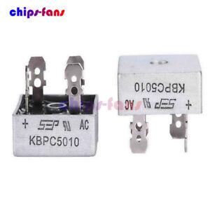 KBPC-5010-50A-1000V-CUSTODIA-IN-METALLO-SINGOLO-fasi-Diodo-ponte-raddrizzatore