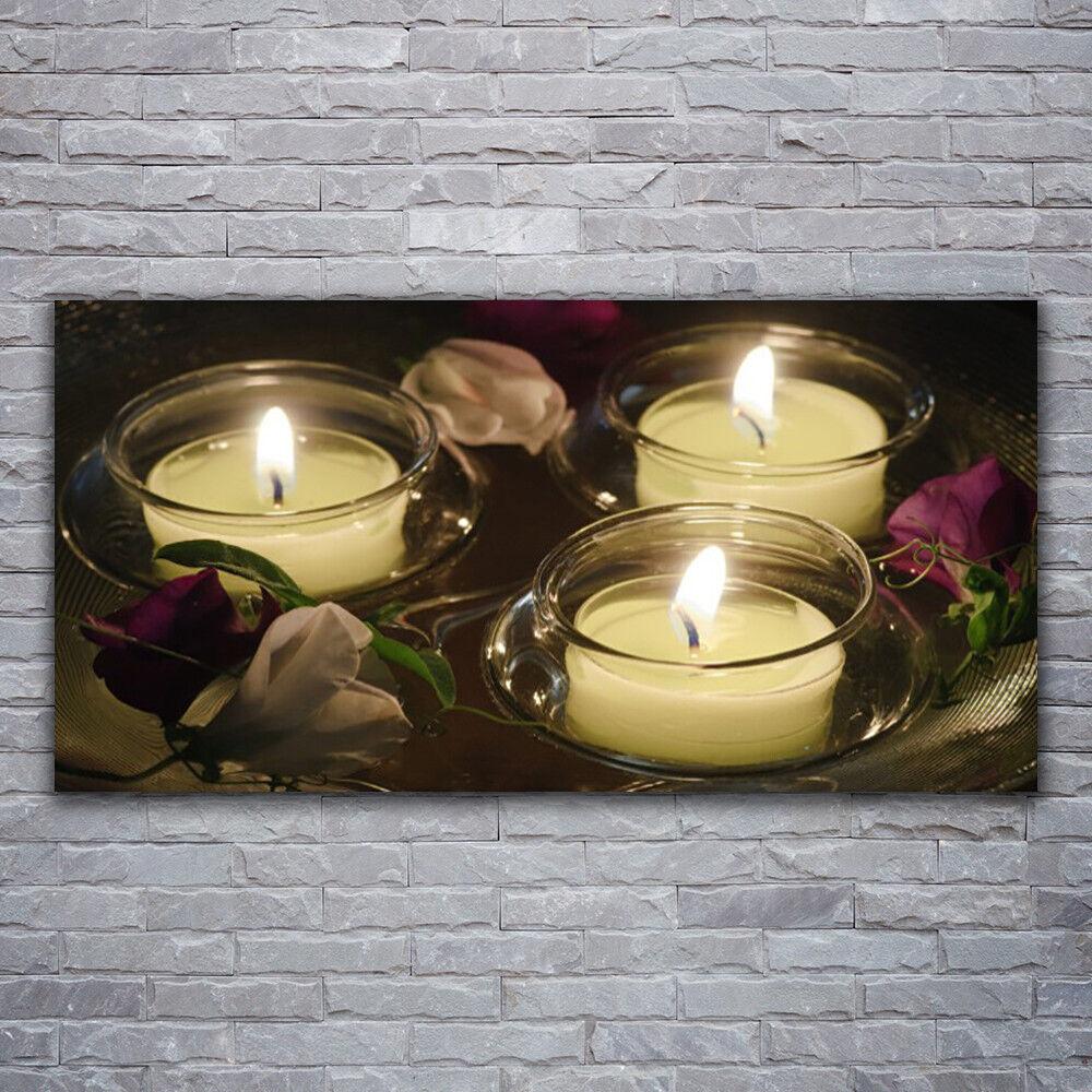 Photo sur toile Tableau Image Impression 120x60 Art Bougies