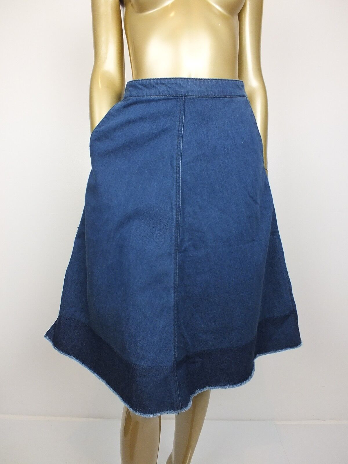 COUNTRY ROAD SKIRT A LINE blueE DENIM  JEANS SKIRT - 100% COTTON - 4