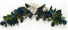 BLUE & CREAM  SWAG ~ Silk Wedding Flowers Arch Gazebo Decor Centerpieces Chuppah