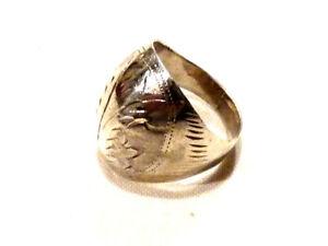 Bijou-argent-925-bague-boule-anneau-cisele-taille-51-ring