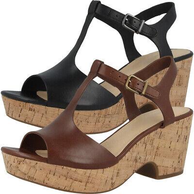 Realistico Clarks Maritsa Amatori Women Donna Pumps Sandalo In Pelle Tempo Libero Sandali 261421-mostra Il Titolo Originale