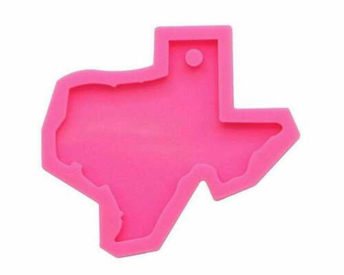 Texas State Map Shape Resin Mould Keychain Jewelry Pendant Craft Silicone Mold,C