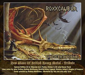 ROXXCALIBUR-Gems-Of-The-NWOBHM-CD-2015-Mythra-Trespass-Legend-Fist-Budgie