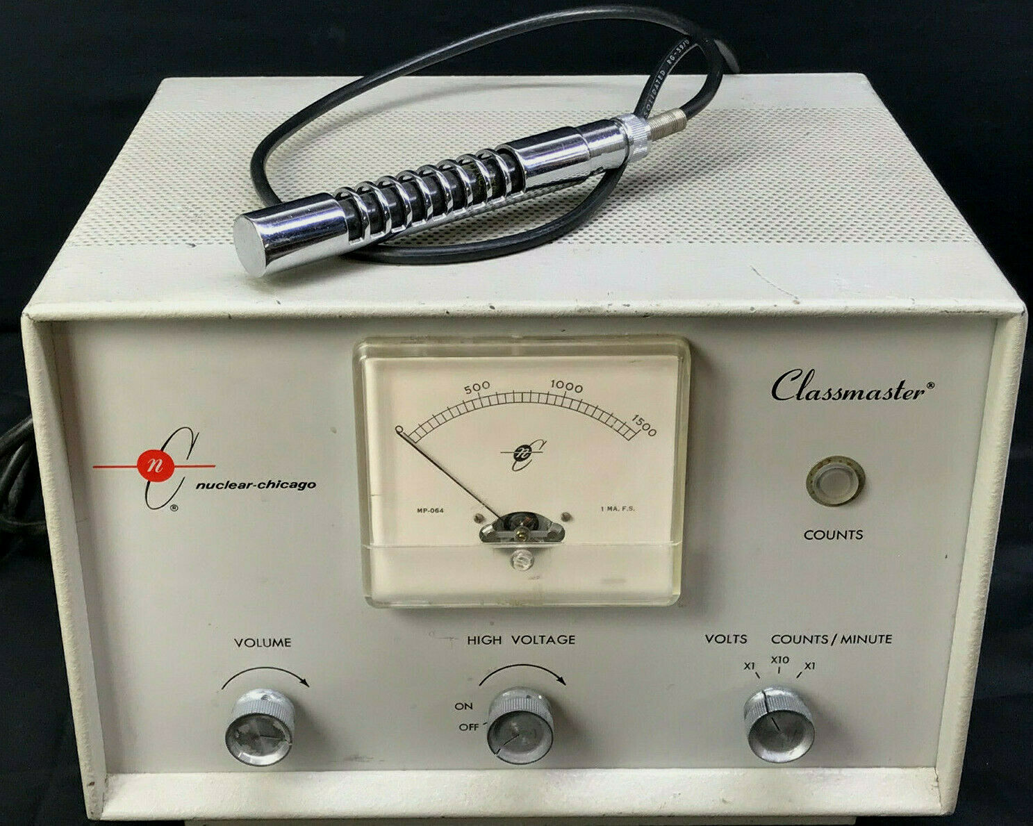 s l1600 - VTG Cold War-Era Tube-Type Geiger Counter Radiation Detector - CLASSMASTER 6320