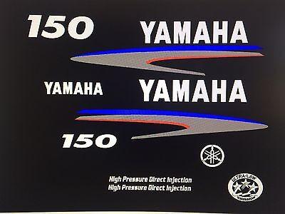 Marine Grade Decals Yamaha Outboard Motor Decal Kit 150hp HPDI Kit