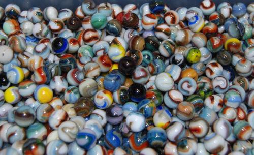 Bulk Marbles:100 Premium Mix Jabo Marbles Some With Green//Blue Adventurine G-27