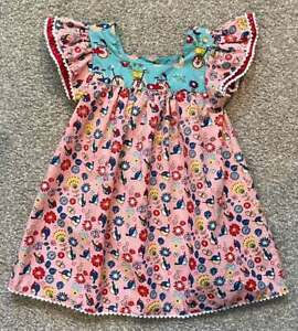 Little Miss Marmalade EUC Toddler Girl Pink Blue Dress Birds Flowers Sz 2