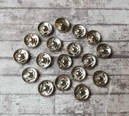 Small Snaps 12 Metal Snap Fasteners Metal Poppers 10mm Press Studs Sewing