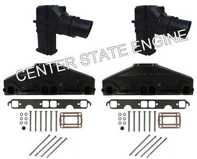 262 Volvo Penta//OMC Style Exhaust Manifold /& Riser Kit 3847499 3862664 4.3L
