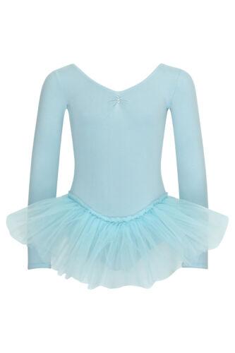 "tanzmuster Kinder Ballett Tutu /""Romy/"" hellblau Ballettanzug Trikot Ballettkleid"