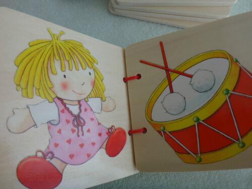 stabile Holz-Bilderbücher verschiedene Titel und Formen Bauernhof