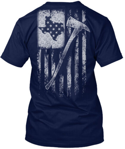 Details about  /Texas Firefighter Flag Hanes Tagless Tee T-Shirt