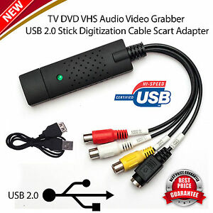 USB-2-0-Capture-Card-Easycap-VHS-to-DVD-Converter-Audio-Video-Adapter-UK-Stock
