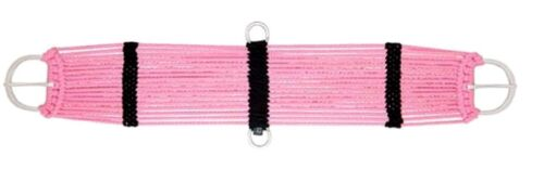 "Weaver PINK Multi Strand String Girth 34/"" Flat Stainless Buckles New Horse Tack"