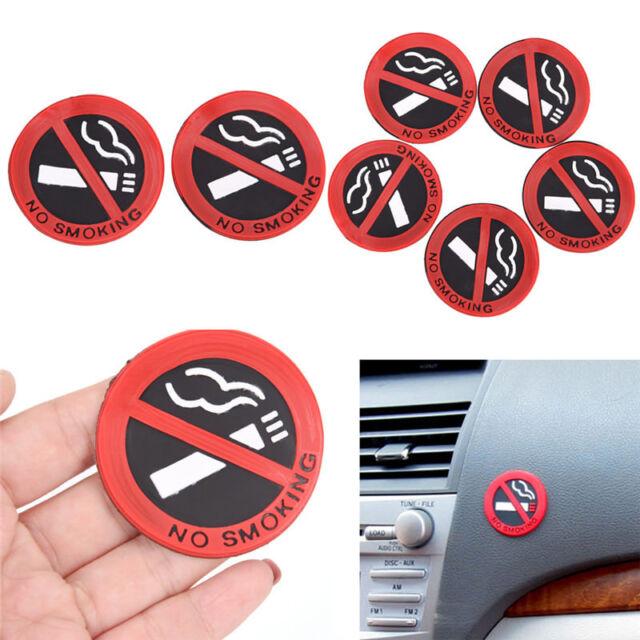 5 Pcs Soft Plastic No Smoking Sign Wall Window Car Sticker Decal Rubber HF