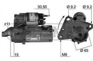 New Motor de Arranque Peugeot 206 1.4 HDI KW50 CV68 De 2002
