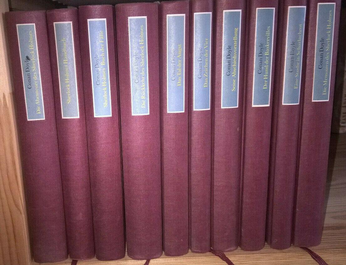 Sir Arthur Conan Doyle - Sherlock Holmes - Deutscher Bücherbund - 10 Bände