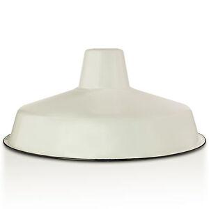 Lámpara esmaltes industria lámpara fábrica lámpara vintage 36cm crema-blanco 2. elección  </span>