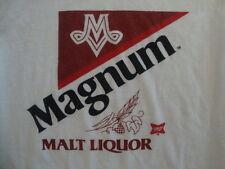 Vintage Magnum Malt Liquor Beer 80's st. ides crazy horse 50/50 T Shirt S / m
