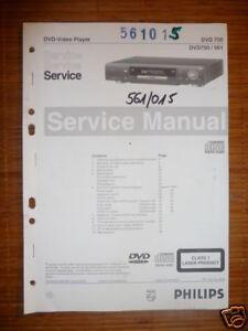 service manual philips dvd 750 dvd player original ebay rh ebay com Philips Portable DVD Player Philips Portable DVD Player