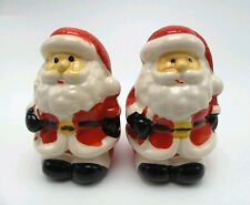 Santa Salt and Pepper Set for Christmas Holiday Ceramic New