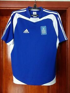 online retailer 9d164 8f3ae Details about Greece national team 2004 - 2006 home football shirt jersey  Adidas size S Small