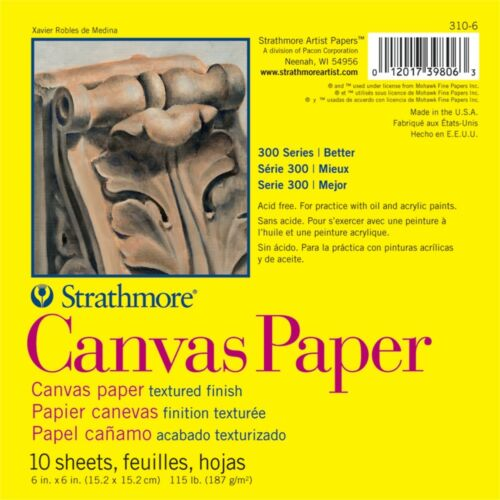 "Strathmore Canvas Paper Pad 6/""x6/""-10 Sheets"
