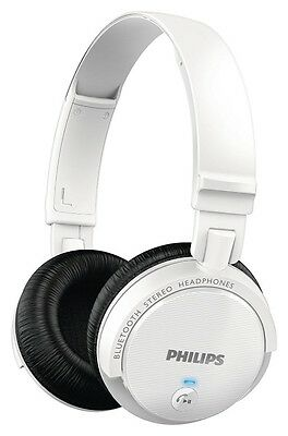 PHILIPS SHB5500WT WIRELESS BLUETOOTH HEADPHONE+32mm DRIVERS+POWERFUL BASS