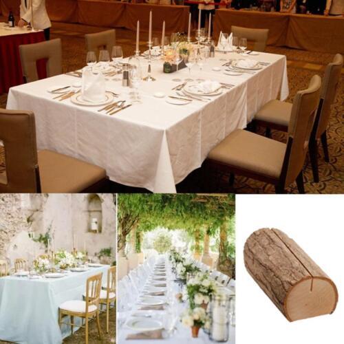 10x Namenskarten Platzhalter aus Holz Hochzeit Name Place Stand