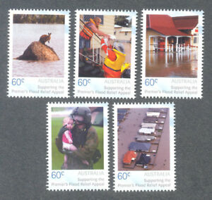 Australia-flood Relief Set 2011 Gummed Perforated Printing (scarce) Un Style Actuel
