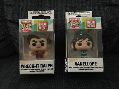 FUNKO POP RALPH AND VANELLOPE POCKET POP KEYCHAINS ON HAND READY TO SHIP